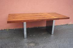 Roger Sprunger Rosewood and Chrome Executive Desk by Roger Sprunger for Dunbar - 1181139