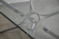 Roger Sprunger Sculptural Chrome Coffee Table by Roger Sprunger for Dunbar - 453840