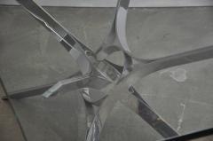 Roger Sprunger Sculptural Chrome Coffee Table by Roger Sprunger for Dunbar - 453841