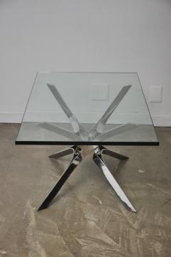 Roger Sprunger Sculptural Chrome Coffee Table by Roger Sprunger for Dunbar - 453842