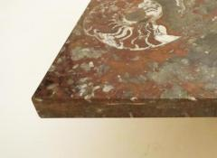 Roger Vanhevel Large Scaled Coffee Table in Fossilize Marble in the style of Roger Vanhevel - 235506