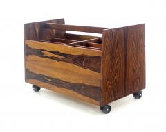 Rolf Hesland Scandinavian Modern Rosewood Magazine or Vinyl Record Caddy by Rolf Hesland - 1154463