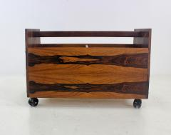 Rolf Hesland Scandinavian Modern Rosewood Magazine or Vinyl Record Caddy by Rolf Hesland - 1154465