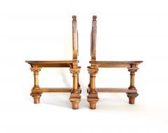 Romanesque Revival Oak Hall Seats Normandy - 2055297