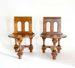 Romanesque Revival Oak Hall Seats Normandy - 2055298