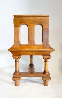 Romanesque Revival Oak Hall Seats Normandy - 2055300