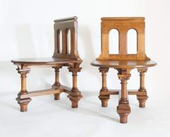 Romanesque Revival Oak Hall Seats Normandy - 2055301