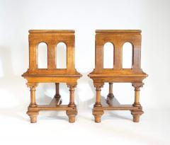 Romanesque Revival Oak Hall Seats Normandy - 2055303