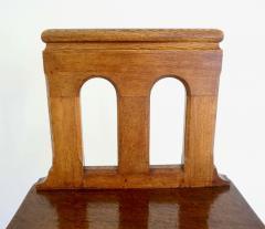 Romanesque Revival Oak Hall Seats Normandy - 2055304