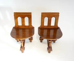 Romanesque Revival Oak Hall Seats Normandy - 2055305