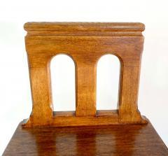 Romanesque Revival Oak Hall Seats Normandy - 2055306