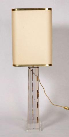 Romeo Paris 1970s table lamp with inclusion in lucite - 727330