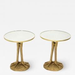 Romeo Paris Pair of Romeo Paris resin ostrich legs gueridon tables 1970s - 1962619