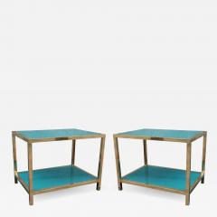 Romeo Rega A pair of brass and lacquered glass by Romeo Rega Italy 70 - 992016