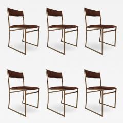 Romeo Rega A set of six chairs by Romeo Rega Italy 70 - 984951
