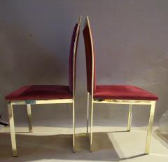 Romeo Rega Eight Romeo Rega Style Brass Dining Chairs Italy 1980 - 569972