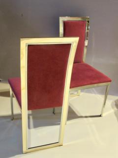 Romeo Rega Eight Romeo Rega Style Brass Dining Chairs Italy 1980 - 569974