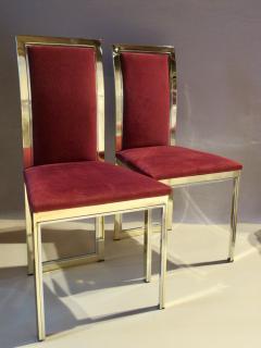 Romeo Rega Eight Romeo Rega Style Brass Dining Chairs Italy 1980 - 569975