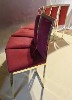 Romeo Rega Eight Romeo Rega Style Brass Dining Chairs Italy 1980 - 569977