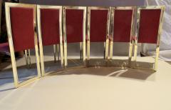 Romeo Rega Eight Romeo Rega Style Brass Dining Chairs Italy 1980 - 569978