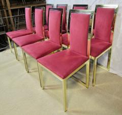 Romeo Rega Eight Romeo Rega Style Brass Dining Chairs Italy 1980 - 569980