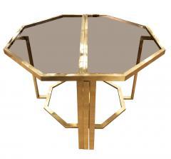 Romeo Rega Extending Brass and Glass Table by Romeo Rega Italy 1960s - 1653639