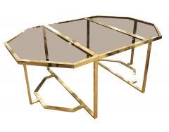 Romeo Rega Extending Brass and Glass Table by Romeo Rega Italy 1960s - 1653640