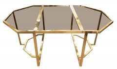 Romeo Rega Extending Brass and Glass Table by Romeo Rega Italy 1960s - 1653641