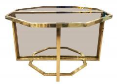 Romeo Rega Extending Brass and Glass Table by Romeo Rega Italy 1960s - 1653642