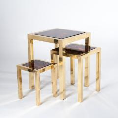 Romeo Rega Mid Century Italian Set of Three Brass Side Tables attr to Romeo Rega - 861684