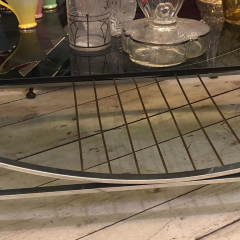 Romeo Rega Mid Century Modern Italian Brass Steel and Smoked Glass Coffee Table 1970 - 916578