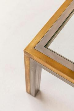 Romeo Rega Pair of Brass and Chrome Low Tables Attributed to Romeo Rega - 1572974