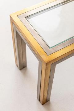 Romeo Rega Pair of Brass and Chrome Low Tables Attributed to Romeo Rega - 1572977