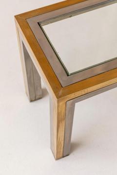 Romeo Rega Pair of Brass and Chrome Low Tables Attributed to Romeo Rega - 1572999