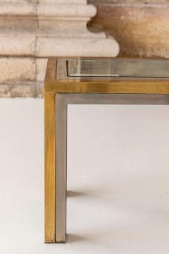Romeo Rega Pair of Brass and Chrome Low Tables Attributed to Romeo Rega - 1573001