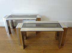Romeo Rega Pair of End Tables by Romeo Rega 1970s - 297477