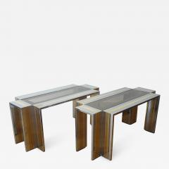 Romeo Rega Pair of End Tables by Romeo Rega 1970s - 298556