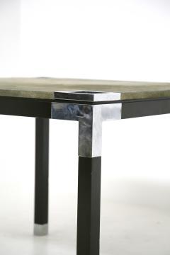 Romeo Rega Rare set play table by Romeo Rega in green alcantara leather signature 60 - 1632289