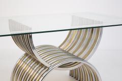 Romeo Rega Romeo Rega Dining Table in Chromed and Brassed Steel with Glass - 2053421