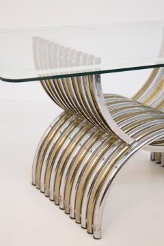 Romeo Rega Romeo Rega Dining Table in Chromed and Brassed Steel with Glass - 2053422