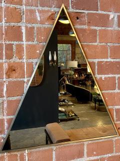 Romeo Rega Triangular Steel Framed Mirror by Romeo Rega Nazaret Italy 1970s - 1290341