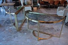 Romeo Rega Versatile Brass Oval or Round Dining Table by Romeo Rega 1970 - 1706478