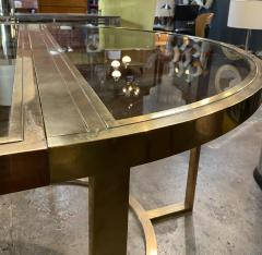 Romeo Rega Versatile Brass Oval or Round Dining Table by Romeo Rega 1970 - 1706483