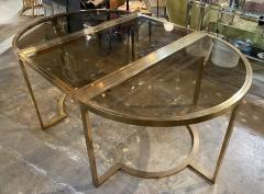 Romeo Rega Versatile Brass Oval or Round Dining Table by Romeo Rega 1970 - 1706484