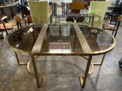 Romeo Rega Versatile Brass Oval or Round Dining Table by Romeo Rega 1970 - 1706486