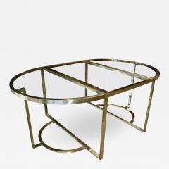 Romeo Rega Versatile Brass Oval or Round Dining Table by Romeo Rega 1970 - 1707106