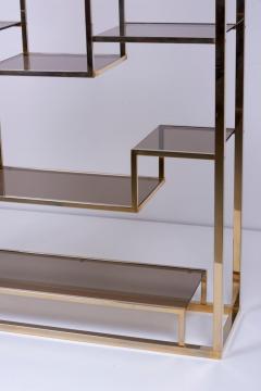Romeo Rega Very Huge Brass and Tinted Glass Bookshelf or tag re by Romeo Rega - 1211147