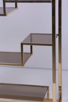 Romeo Rega Very Huge Brass and Tinted Glass Bookshelf or tag re by Romeo Rega - 1211149