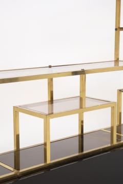 Romeo Rega Vintage bookcase by Romeo Rega in Brass Glass and Wood - 2066871