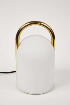 Romolo Lanciani 1980s Romolo Lanciani Brass and Glass Tender Table Lamp for Tronconi - 1750450